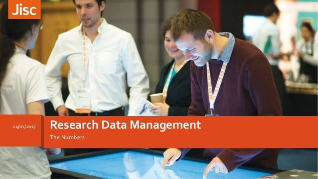 The Numbers Research Data Management24/01/2017