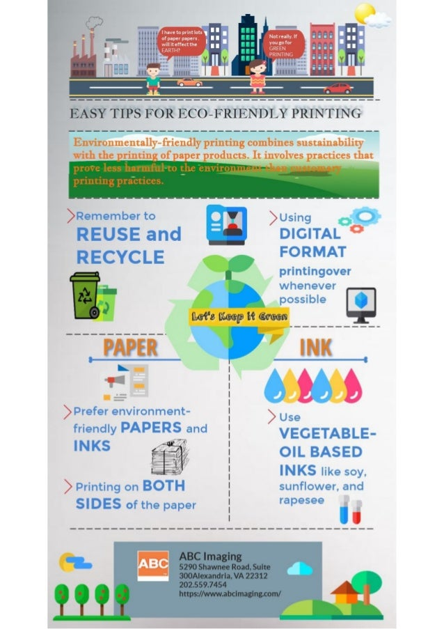 Easy Tips for Eco Friendly Print Solutions