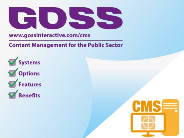 Content Management for the Public Sector infographic