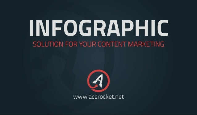 INFOGRAPHIC  SOLUTION FOR YOUR CONTENT MARKETING  www.acerocket.net
