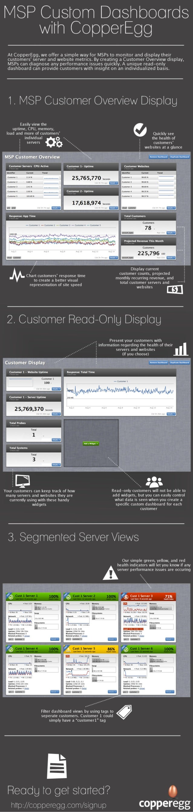 Infographic - Server and Website Performance Dashboards for MSPs and Their Customers