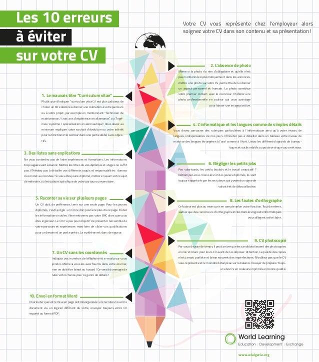 world learning algeria  les 10 erreurs  u00e0  u00e9viter sur votre cv