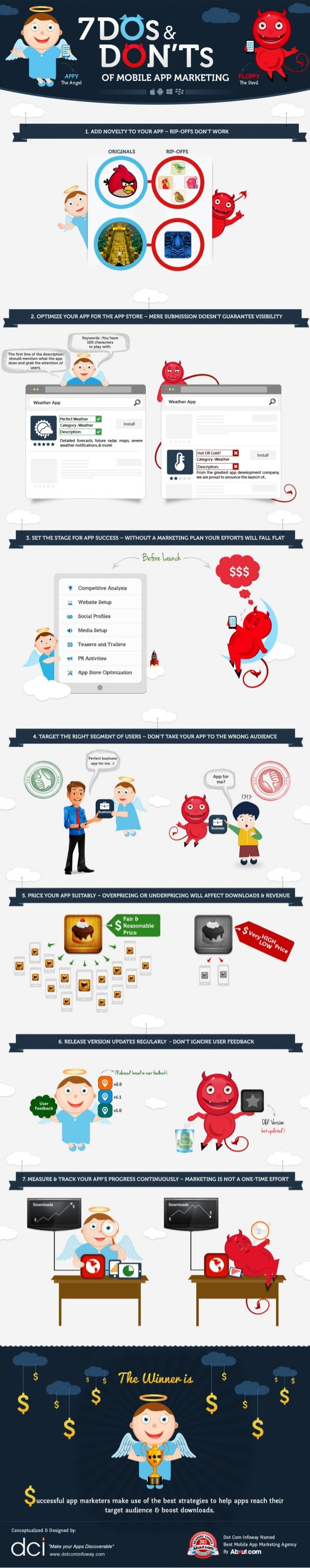 Mobile Apps Marketing Infographic - 7 do's and dont's of mobile apps marketing