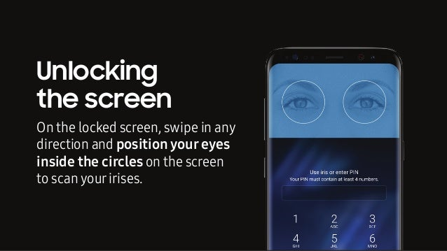 secure position how to secure your mobile phone with iris scanning