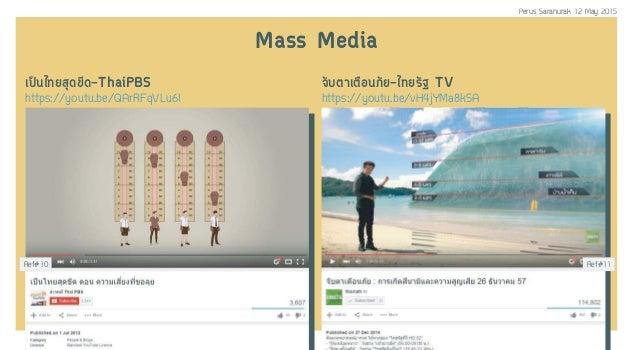 ¹ä·ÂÊØ´¢Õ´-ThaiPBS https://youtu.be/QArRFqVLu6I ¨ÑºμÒàμ×ÀÑÂ-ä·ÂÃÑ° TV Mass Media https://youtu.be/vH4jYMa8kSA Ref#10 ...
