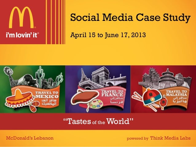 """Tastes of the World""Social Media Case StudyMcDonald's Lebanon powered by Think Media LabsApril 15 to June 17, 2013"