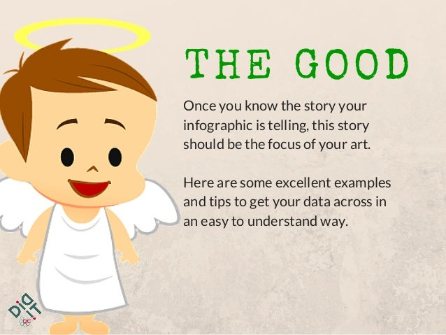 THE GOOD Once you know the story your infographic is telling, this story should be the focus of your art. Here are some ex...