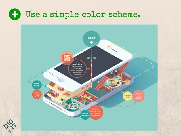 Use a simple color scheme.