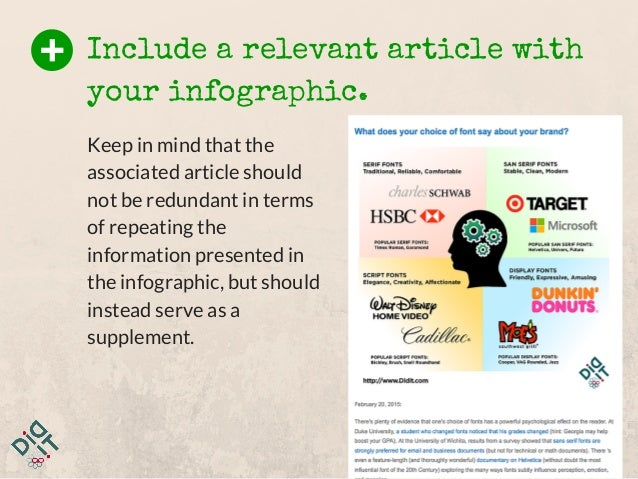 Keep in mind that the associated article should not be redundant in terms of repeating the information presented in the in...
