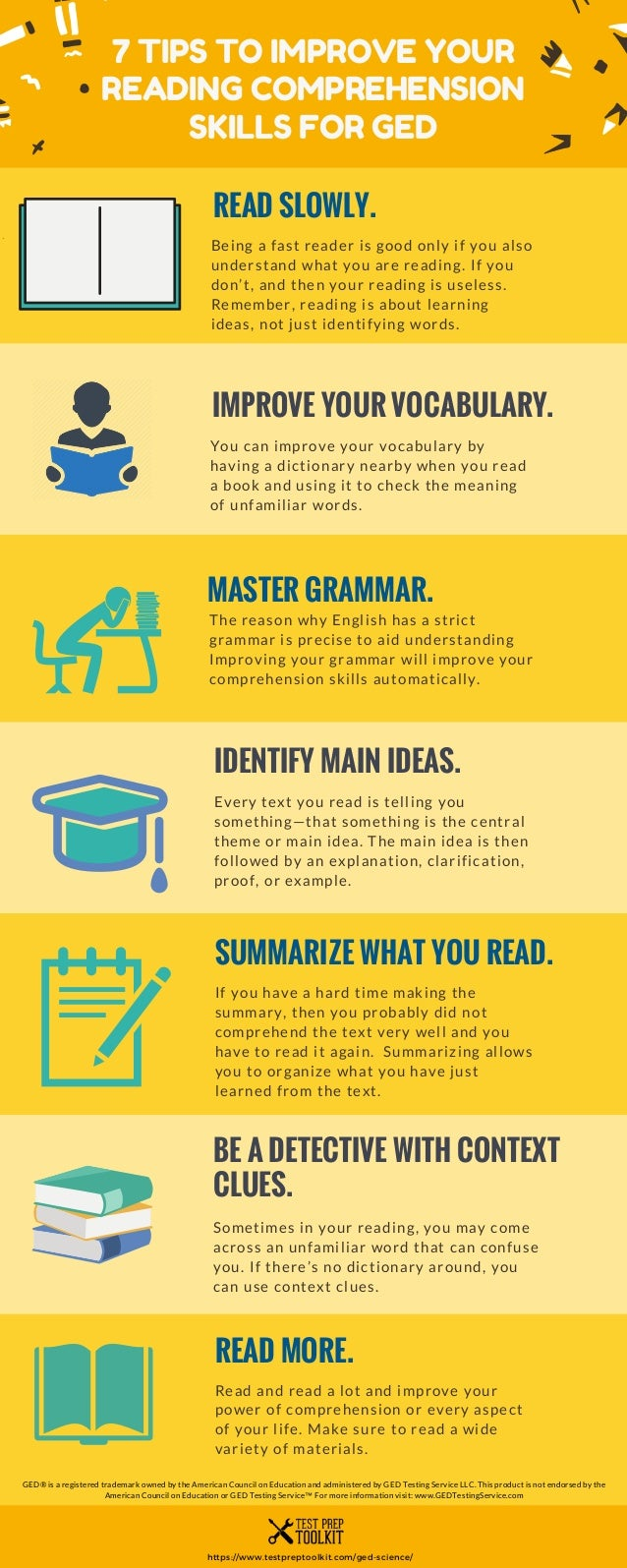 - 7 Tips To Improve Your Reading Comprehension Skills For GED