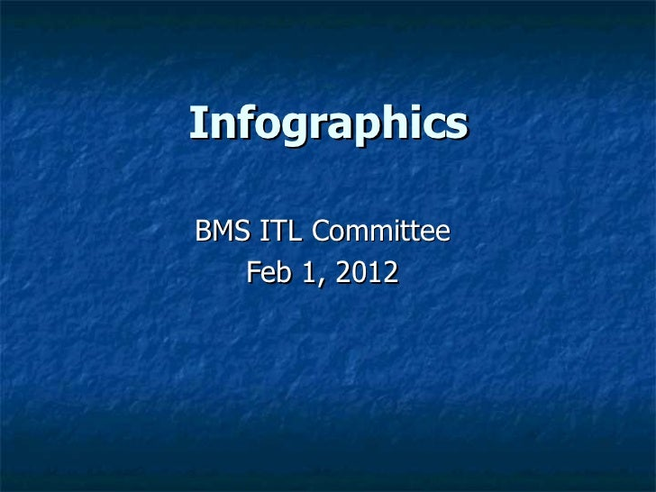 InfographicsBMS ITL Committee   Feb 1, 2012