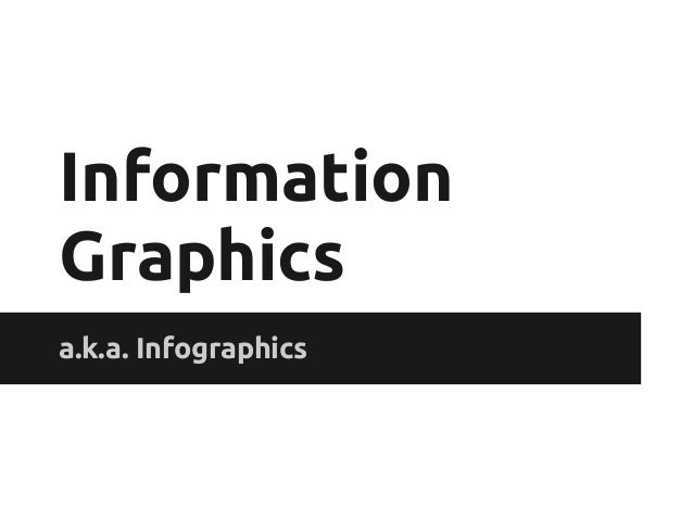 InformationGraphicsa.k.a. Infographics