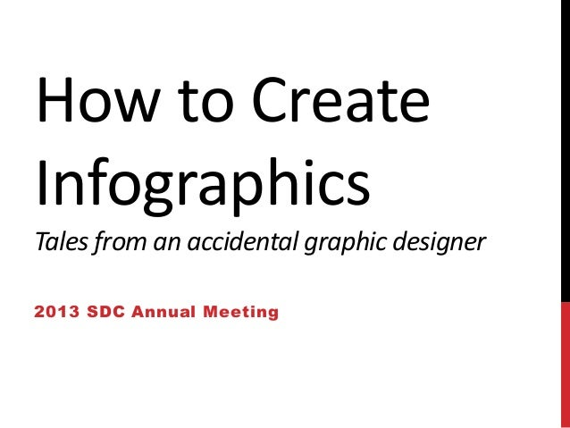 How to Create Infographics Tales from an accidental graphic designer 2013 SDC Annual Meeting