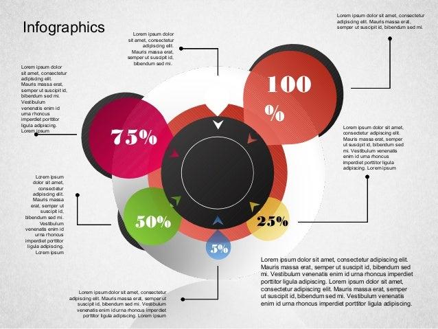 Infographics 5% 25%50% 75% 100 % Lorem ipsum dolor sit amet, consectetur adipiscing elit. Mauris massa erat, semper ut sus...