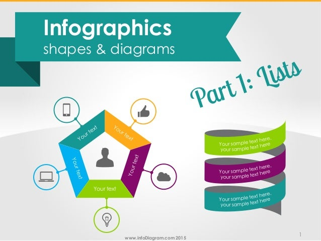 Infographics text lists powerpoint diagrams infodiagram 2015 1 your text infographics shapes diagrams ccuart Image collections