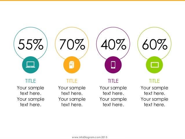 www.infoDiagram.com 2015www.infoDiagram.com 2015 55% 70% 40% 60% TITLE Your sample text here. Your sample text here. TITLE...