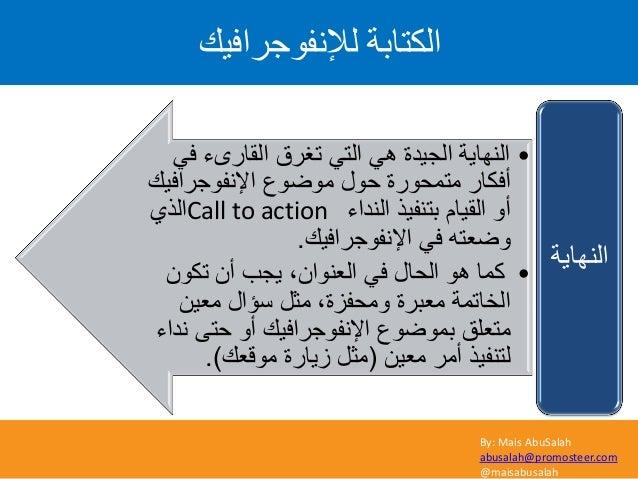 By: Mais AbuSalah abusalah@promosteer.com @maisabusalah ىإلّف٘ظشافٞل اىنراتح •ًف القارىء تغرق ًالت ًه الجٌد...