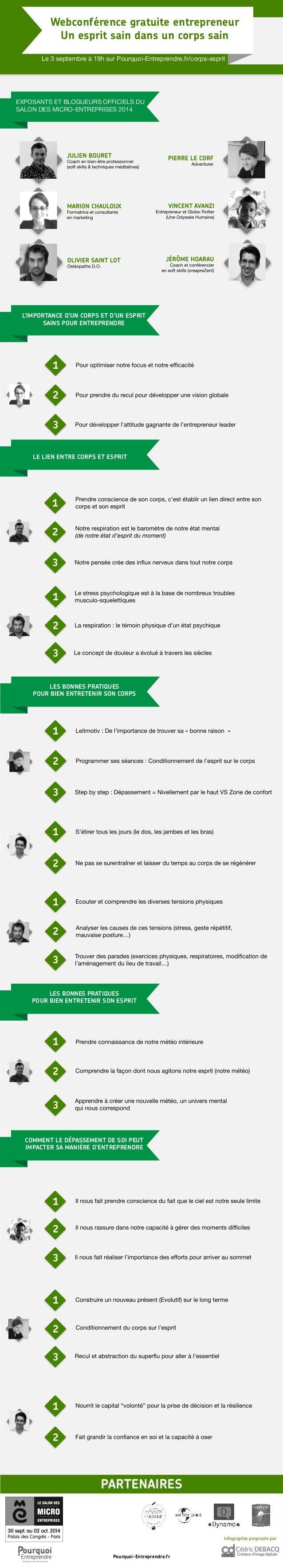 Webconférence gratuite entrepreneur  Un esprit sain dans un corps sain  Le 3 septembre à 19h sur Pourquoi-Entreprendre.fr/...