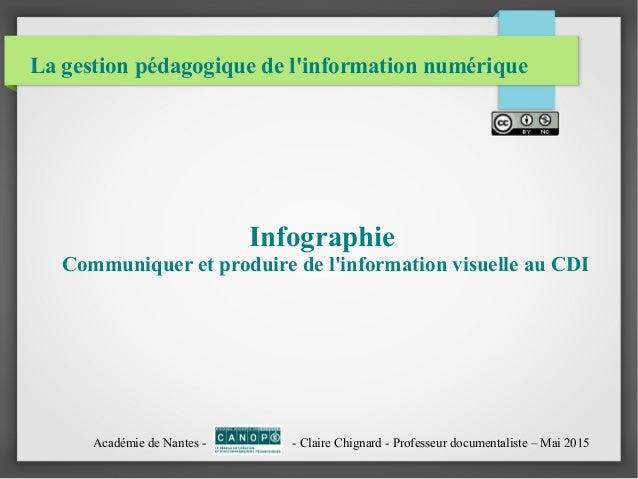 La gestion pédagogique de l'information numérique Infographie Communiquer et produire de l'information visuelle au CDI Aca...