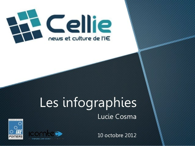 Les infographies         Lucie Cosma         10 octobre 2012