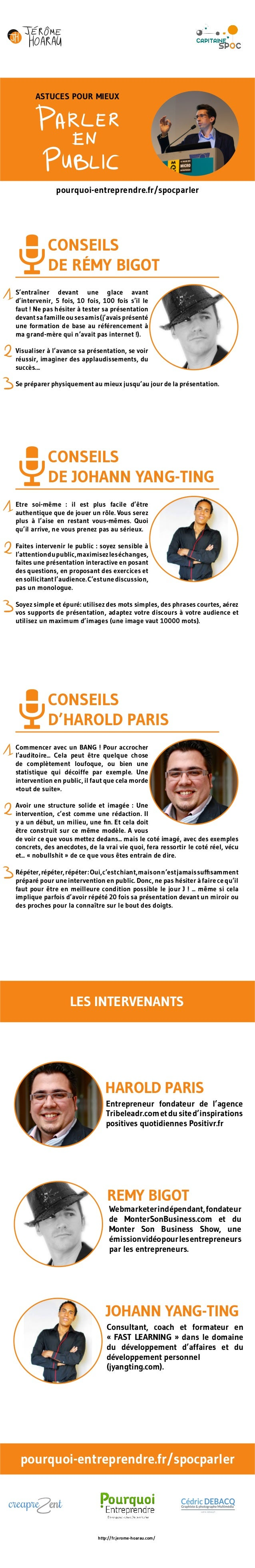 ASTUCES POUR MIEUX  pourquoi-entreprendre.fr/spocparler  pourquoi-entreprendre.fr/spocparler  http://fr.jerome-hoarau.com/...