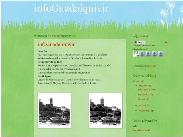 vie-mes 31 de diciemlirg- ¡le 1mm  infoGuadalquixúr  Desafío  Proyecto englobadu en el Desafio Provincial i Siibete a Guad...