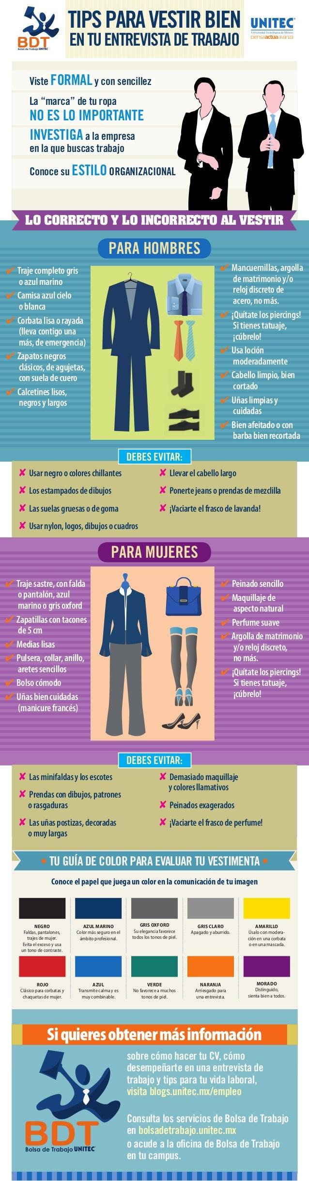 9d97e1015c2 Cómo vestirte para una entrevista de trabajo