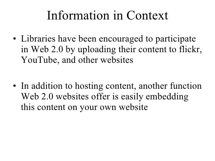 Information in Context Slide 2