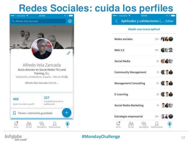 12 Redes Sociales: cuida los perfiles #MondayChallenge