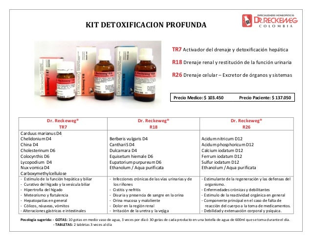 Kits Detoxificación Dr. Reckeweg