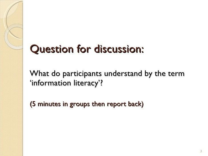 Information literacy presentation Slide 3
