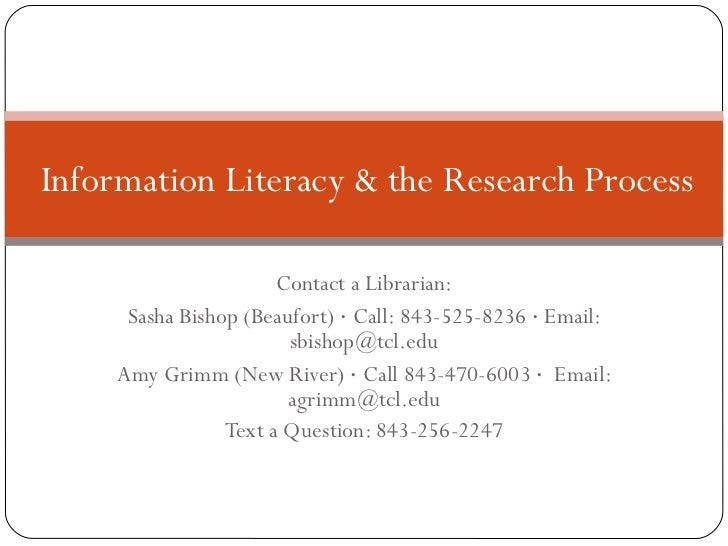Contact a Librarian: Sasha Bishop (Beaufort)  ·  Call: 843-525-8236  ·  Email: sbishop@tcl.edu Amy Grimm (New River)  ·  C...