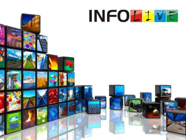 CONTEÚDO  Broadcast & Streaming WebTV e TV Corporativa Filmes e Vídeos Institucionais  INFOLIVE  Rua Monteiro Lobato, 51, ...
