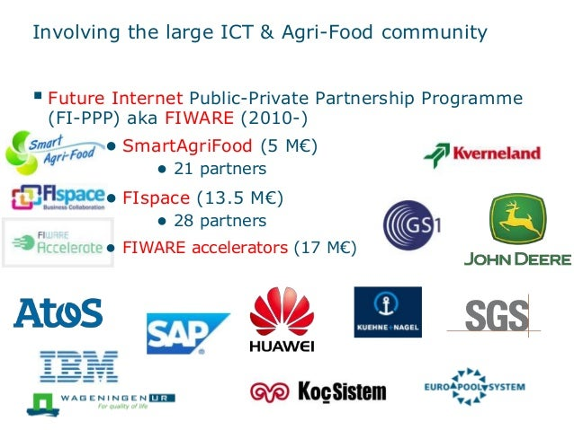 Involving the large ICT & Agri-Food community  Future Internet Public-Private Partnership Programme (FI-PPP) aka FIWARE (...