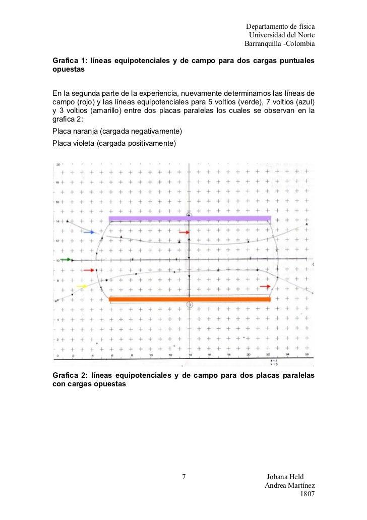 Infome 2 Lineas Equipotenciales Y Campo Electrico