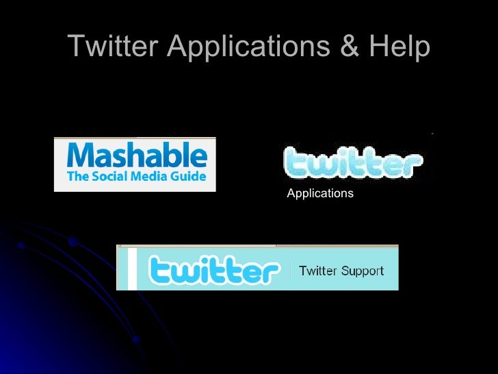 Twitter Applications & Help Applications