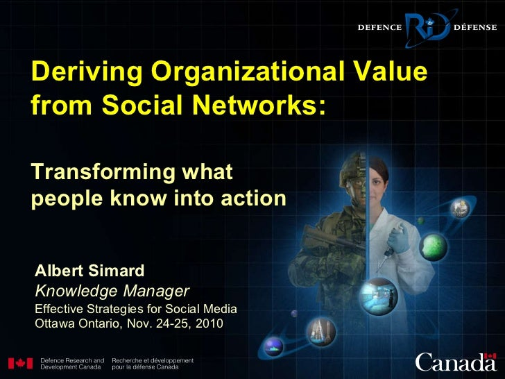 Transforming what people know into action   Albert Simard Knowledge Manager Effective Strategies for Social Media  Ottawa ...