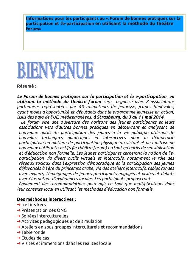 Info pack forum strasbourg version française iv avec new logo  Slide 2