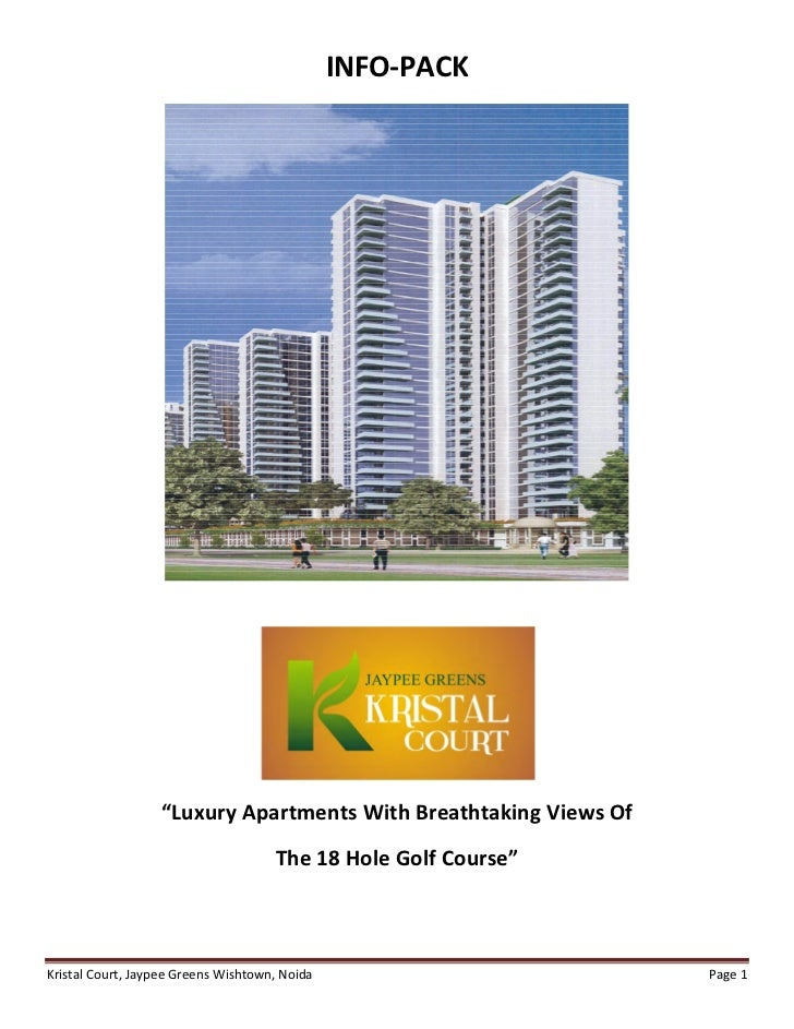 """INFO-PACK                  """"Luxury Apartments With Breathtaking Views Of                                     The 18 Hole G..."""
