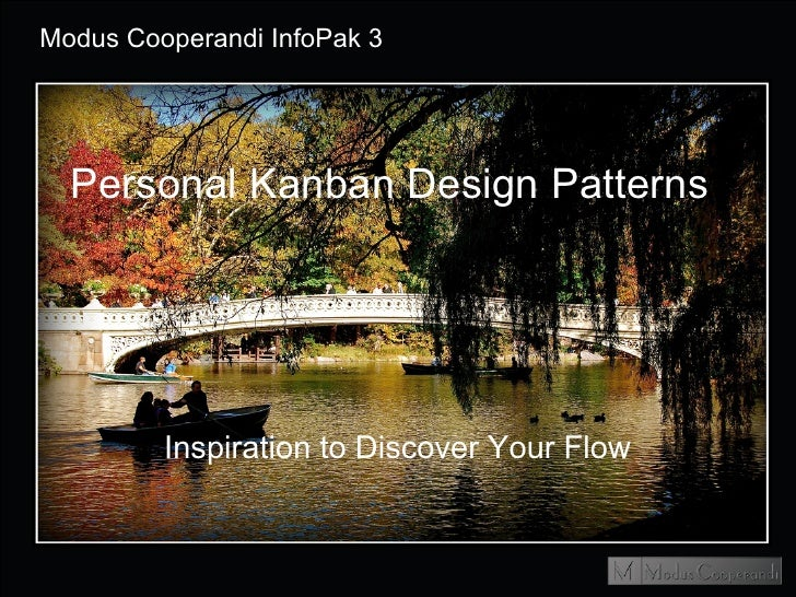 InfoPak3 Personal Kanban Design Patterns