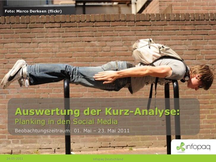 Foto: Marco Derksen (flickr)     Auswertung der Kurz-Analyse:     Planking in den Social Media     Beobachtungszeitraum: 0...