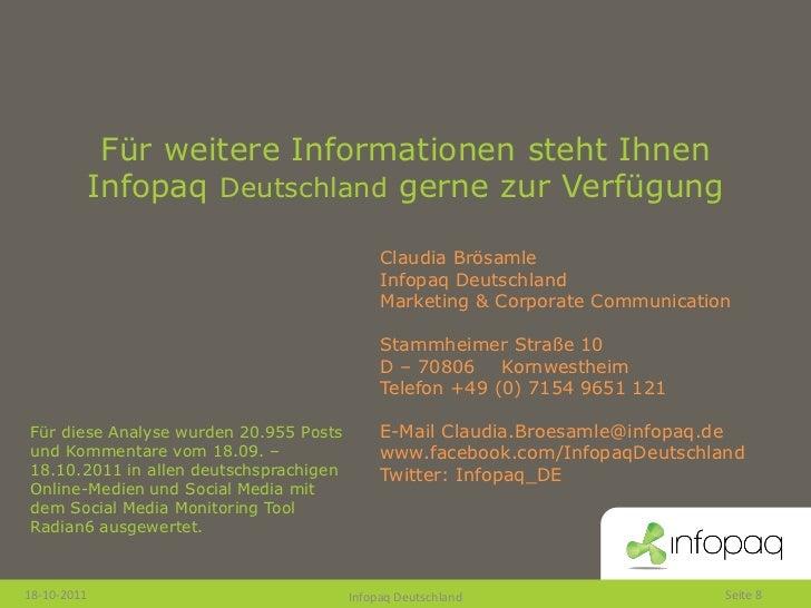 Für weitere Informationen steht Ihnen         Infopaq Deutschland gerne zur Verfügung                                     ...