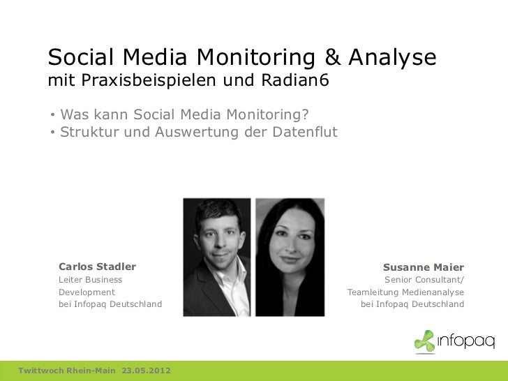Social Media Monitoring & Analyse     mit Praxisbeispielen und Radian6      • Was kann Social Media Monitoring?      • Str...