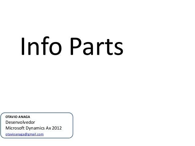 Info PartsOTAVIO ANAGADesenvolvedorMicrosoft Dynamics Ax 2012otavioanaga@gmail.com