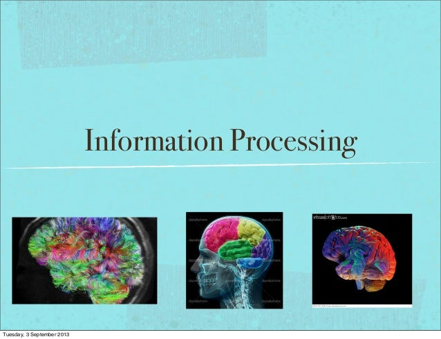 Information Processing Tuesday, 3 September 2013