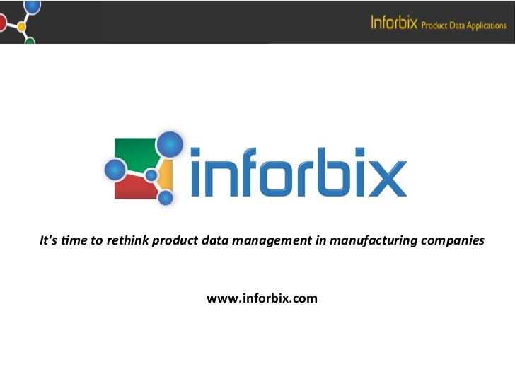 Its&metorethinkproductdatamanagementinmanufacturingcompanies                                                   ...