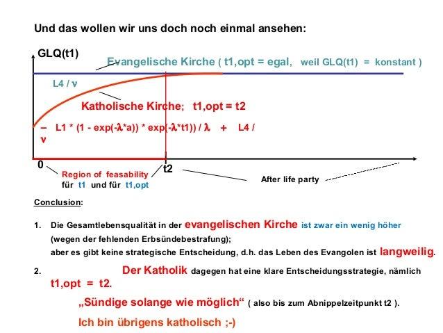 Und das wollen wir uns doch noch einmal ansehen: GLQ(t1)  Evangelische Kirche ( t1,opt = egal, weil GLQ(t1) = konstant )  ...