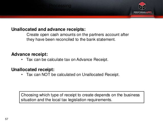 Infor ERP LN Accounts Payable AP and Cash Management Payments Overv – Advance Payment Receipt
