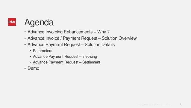 Inforln com ERP LN 10 4 Advance Invoicing Enhancements