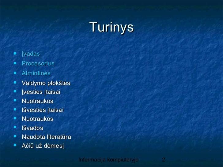 Informacija kompiuteryje Slide 2